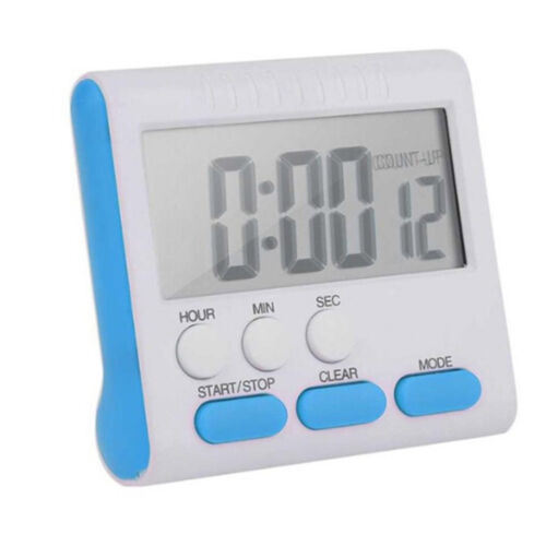 Large LCD Digital Kitchen Timer Loud Alarm Black Red Blue Count-Down Up Clock