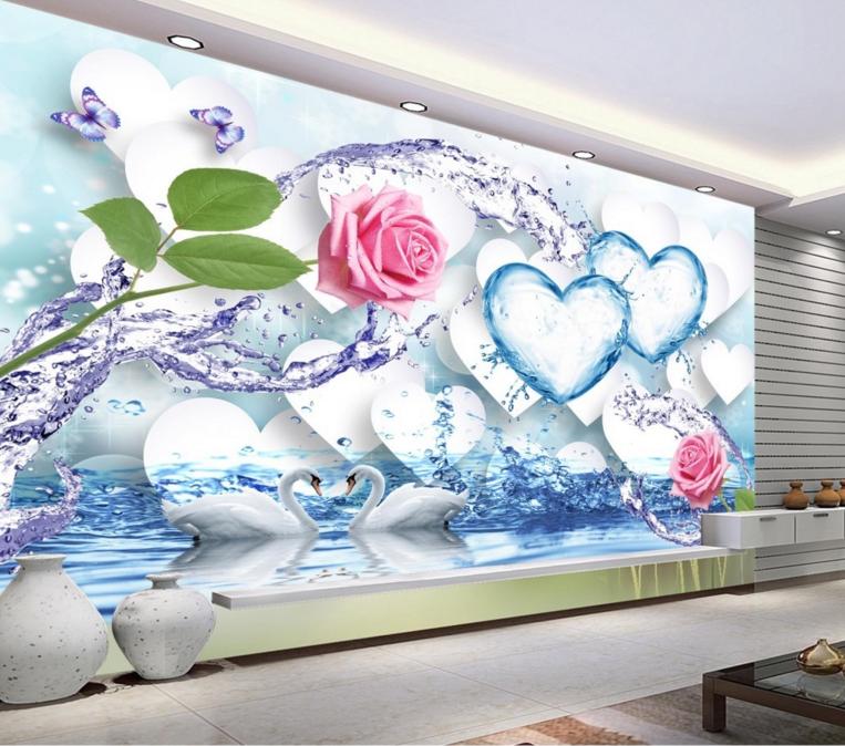 3D Love Petals 564 Wallpaper Murals Wall Print Wallpaper Mural AJ WALL AU Lemon
