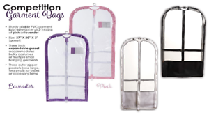 Details About New Dance Garment Bag Clear Colored Sides Compeion Outer Pockets Expandable