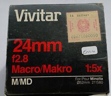 Vivitar 24 mm 2,8 per MInolta MD