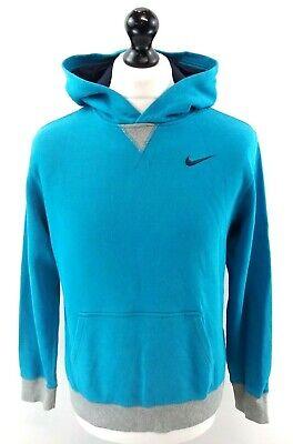 Nike Ragazzi Felpa Con Cappuccio Xl Ragazzi Blu Grigio Cotone & Poliestere-mostra Il Titolo Originale