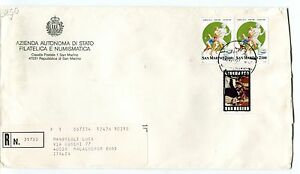 1997 Fdc San Marino Gattopardo Atlanta96 Registered Raccomandata First Day Cover Vif Et Grand Dans Le Style