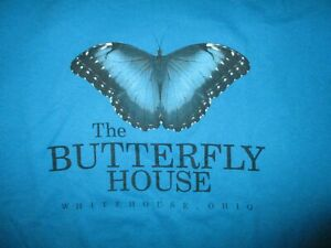 BUTTERFLY-HOUSE-T-SHIRT-Whitehouse-Ohio-Wheeler-Farms-Lepidopterology-Adult-XL
