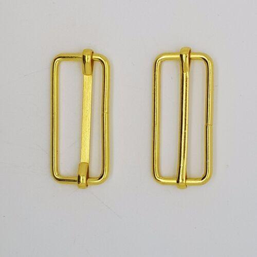 Barras de metal dorado deslizantes Hebillas Correas Para La Correa De Las Correas Cinta Craft