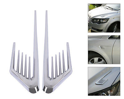 Cool Car Air Vent Decoration Sticker Fender Cover Hole Intake Duct Flow Grille