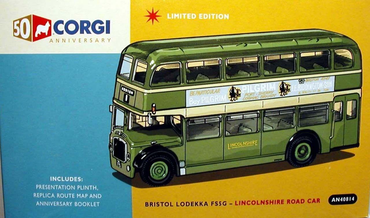 CORGI OOC LINCOLNSHIRE ROAD CAR BRISTOL LODEKKA FS 50TH ANNIVERSARY-AN40814