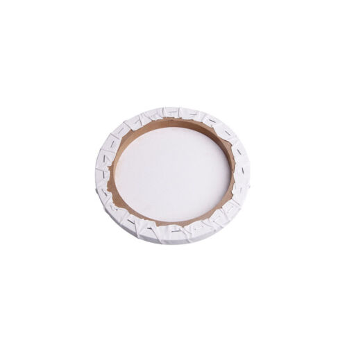 White Blank Panels Round Canvas Board Wooden Frame Art Artist Painting Crafts