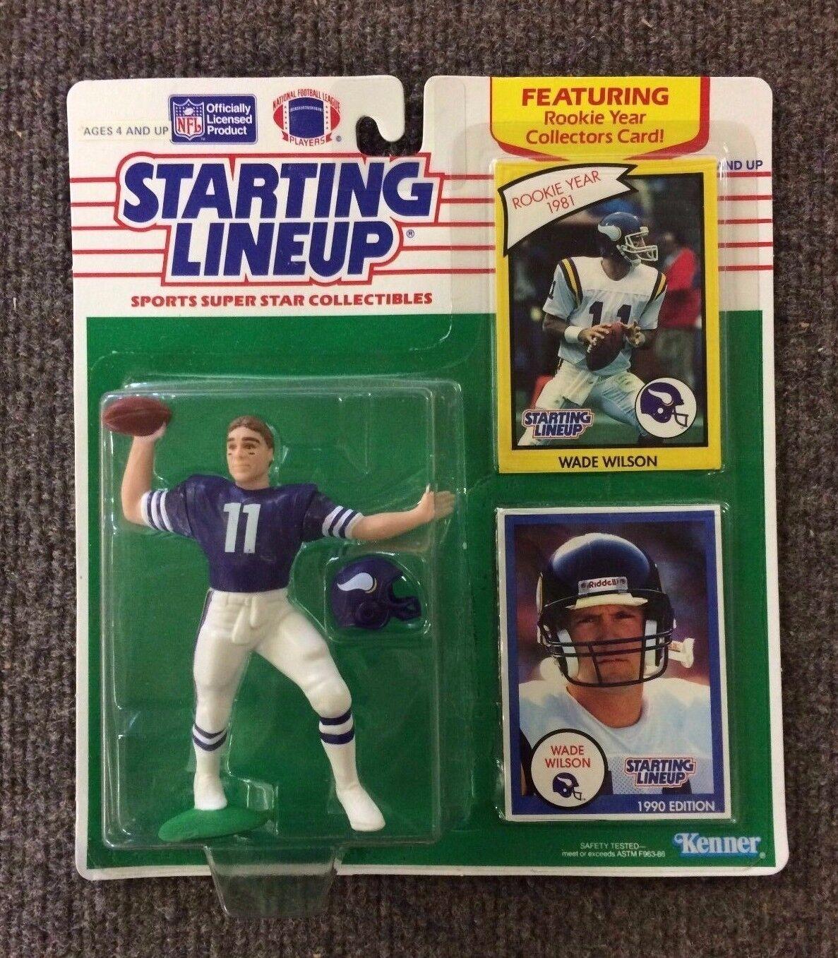 RARE 1990 Wade  Wilson Minnesota Vires estrellating Lineup SLU Kenner Collectibles  ordina ora con grande sconto e consegna gratuita
