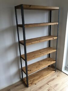 industrial style shelving. Image Is Loading Industrial-style-rustic-shelving-bookcase-display-Made-to- Industrial Style Shelving 2