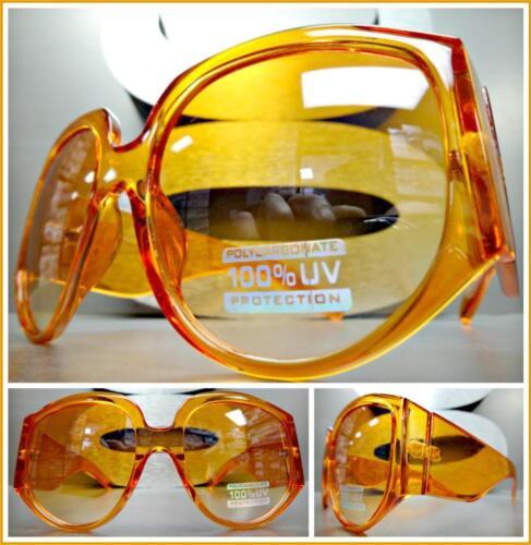 OVERSIZED EXAGGERATED RETRO Style SUN GLASSES Super Thick XL Orange Frame /& Lens
