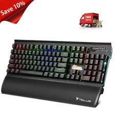 FANTECH K10 Professional USB Wired Colorful Backlight Gaming Water Resistant Keyboard