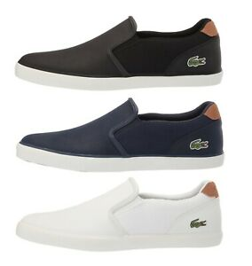Lacoste-Jouer-119-Men-039-s-Casual-Slip-on-Croc-Logo-Leather-Loafer-Shoes-Sneakers