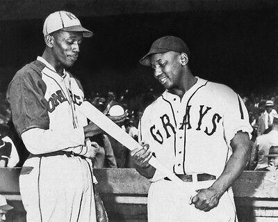 Homestead Grays JOSH GIBSON vs KC Monarchs SATCHEL PAIGE 8x10 Photo Negro League