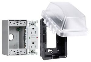 Raco Mkg410cts Taymac Weatherproof Plastic Cover Box Gfci Plug