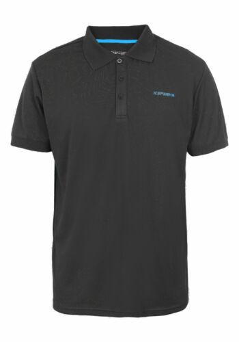 Icepeak Herren Wander-Freizeit-Polo-Shirt Kyan schwarz-blau 057630 2290