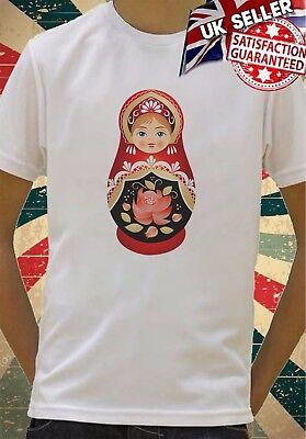 Diplomatic Cartoon Russian Babushka Doll Boys Girls Birthday Gift Top T Shirt 256 Beautiful And Charming Kids' Clothes, Shoes & Accs. Boys' Clothing (2-16 Years)