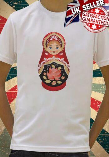 cartoon Russian babushka doll Boys Girls Birthday gift Top T shirt 256