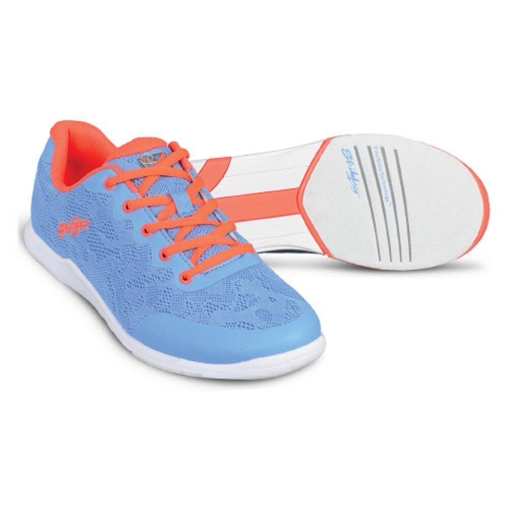 Women's KR Strikeforce LACE Bowling shoes color Sky bluee Coral Size 6-11