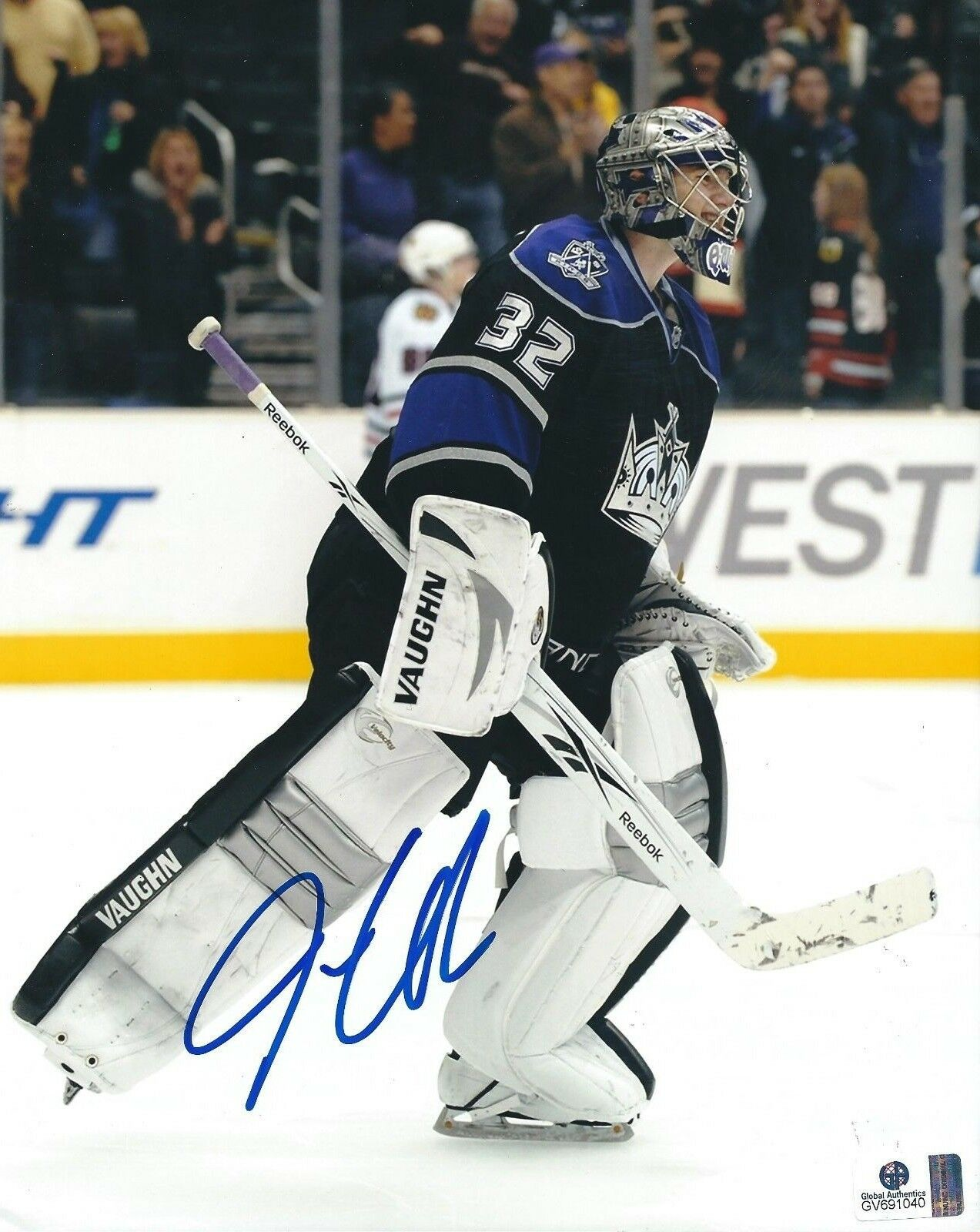 Jonathan Quick Signed Los Angeles Kings Hockey 8x10 Photo GAI GV691040