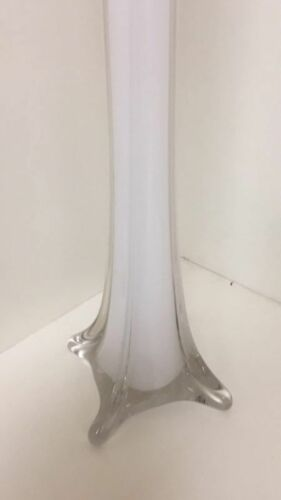 """Modern Glass Tower Vase for Wedding Height-24/""""  White Color"""