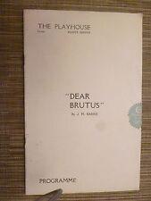 1929 Theatre Programme DEAR BRUTUS - GERALD du MAURIER ERIC COWLEY HAY PETRIE
