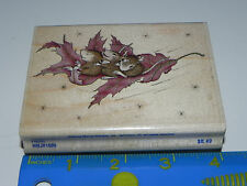 Stampabilities Rubber Stamp House Mouse Floating on a Leaf Friends Mice