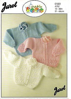"Jarol 879 Vintage Knitting Pattern Baby Cardigans Sweater 12-28/"" DK 0-10 years"