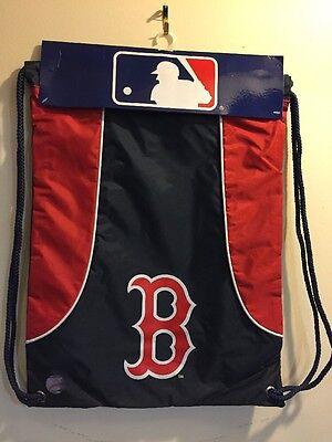 Boston Red Sox Drawstring Back Pack//Sack Gym Bag Tote NEW Backpack BIG LOGO