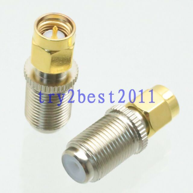 1pce F male plug to SMA female jack RF coaxial adapter connector