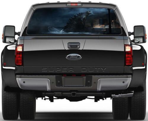 Godzilla Rear Window Decal Graphic Sticker Car Truck SUV Van 494