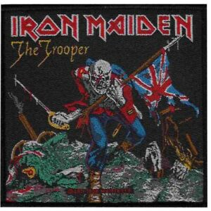 Iron-Maiden-Trooper-Woven-Patch-Official-Heavy-Metal-Band-Merch-New