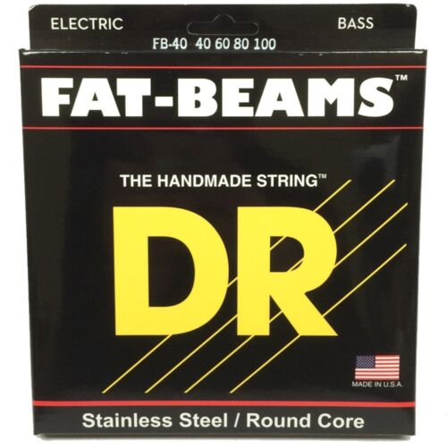40-100 MM-40 DR FB-40 Fat Beams Round Core Stainless Steel Lite Bass Strings