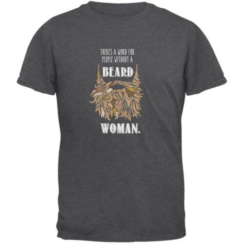 Beard Woman Shirt Dark Heather Adult T-Shirt