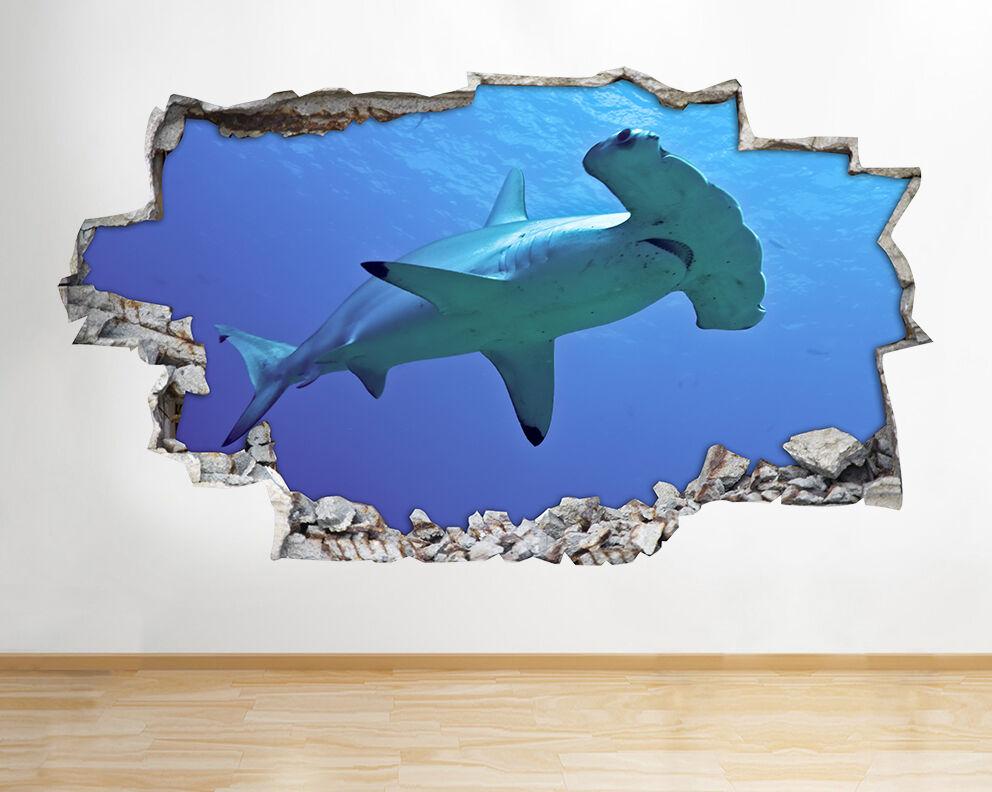 Adesivi squalo mello oceano mare vinile  Soggio adesivo da parete camera bambini