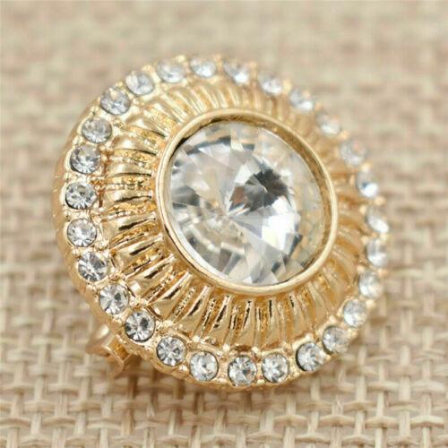 Diamantes de imitación de Aleación Broche Pin Bufanda para mujer musulmana Clips Hebilla Retro Decoración de joyería