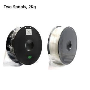 Geeetech Two Spools PLA Filament de 1.75mm noir et blanc for Imprimante 3D