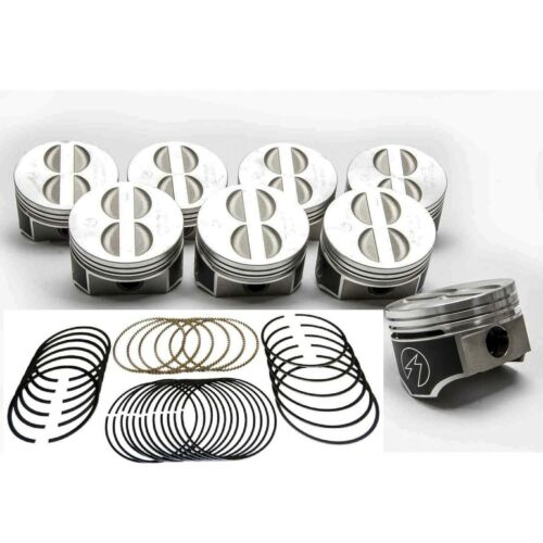 Speed Pro//TRW Chevy 350//5.7 Forged Flat Top Coated Skirt Pistons+MOLY Rings STD