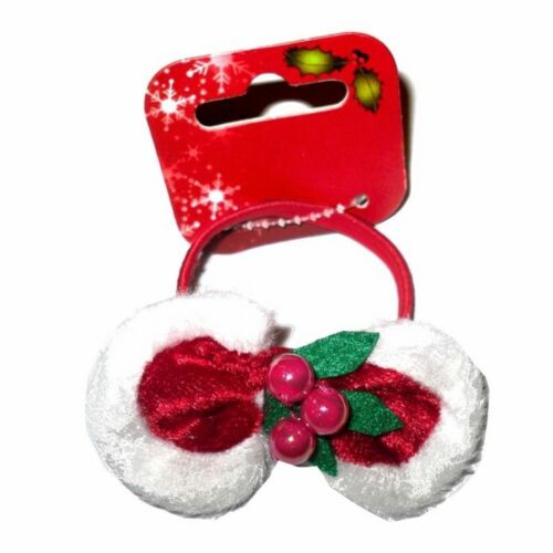 CHRISTMAS HAIR PAIR SLEEPIES OR PAIR PONIOS OR BOBBLE XMAS REINDEER SANTA HOLLY