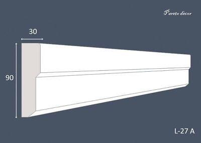 1,2 Meter Außenstuck Fassade Haus Außen Wand Flachleiste Stoßfest L-27 Beschicht Geschickte Herstellung Fassade