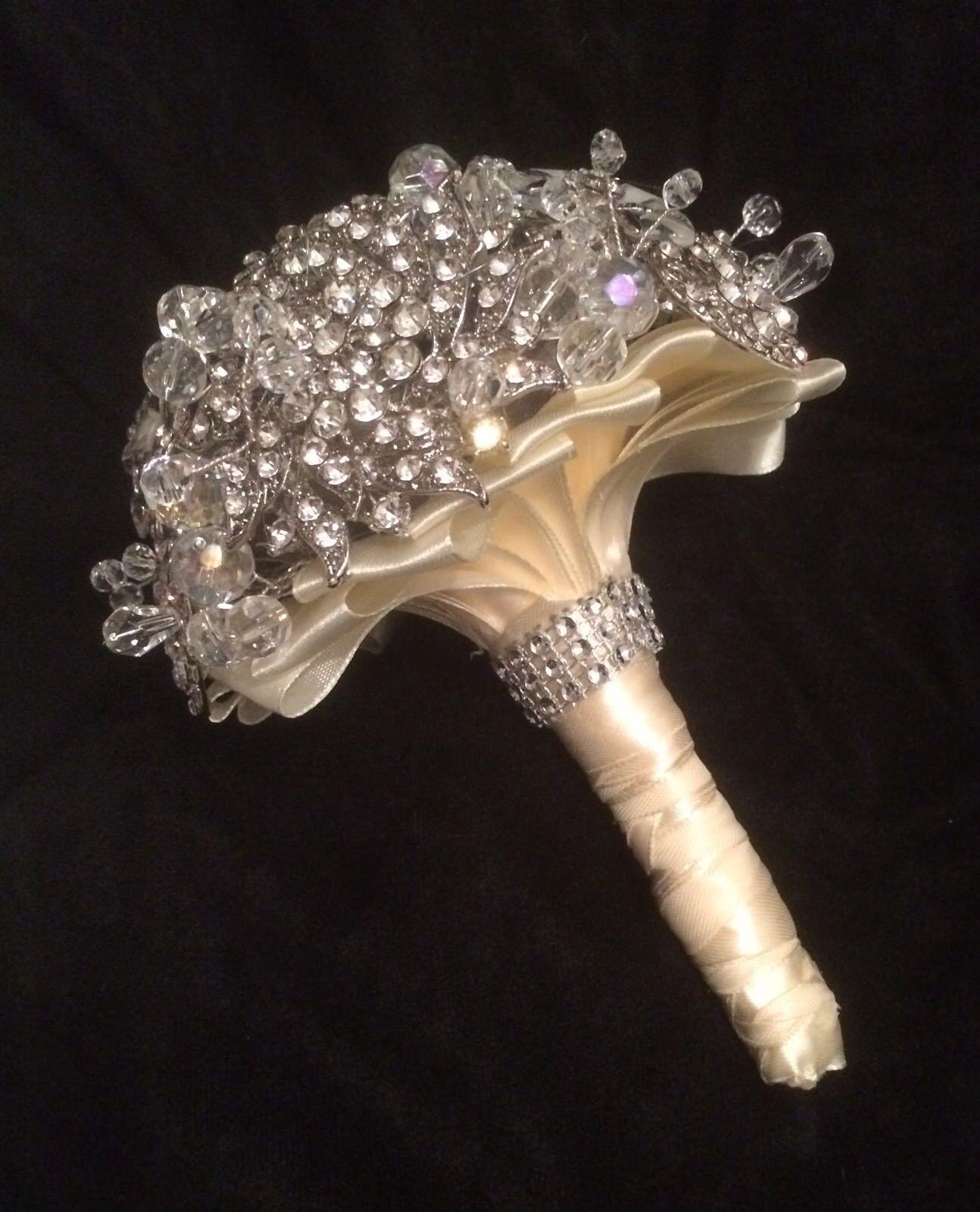 ️ Bridal Brooch Bouquet Crystal Beads Diamante Sparkling Wedding