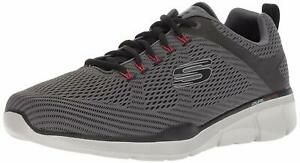Skechers-Mens-TRUE-BALANCE-Fabric-Low-Top-Lace-Up-Charcoal-Black-Size-13-0-aLl