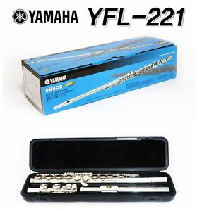Yamaha student flute yfl 221 offset g c foot joint nikel for Yamaha yfl 221 student flute