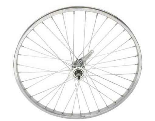 Bicycle 26  x 1.75  Steel Rear Coaster Wheel 36 Spoke 12ga. 3 8 Axel Chrome Bike