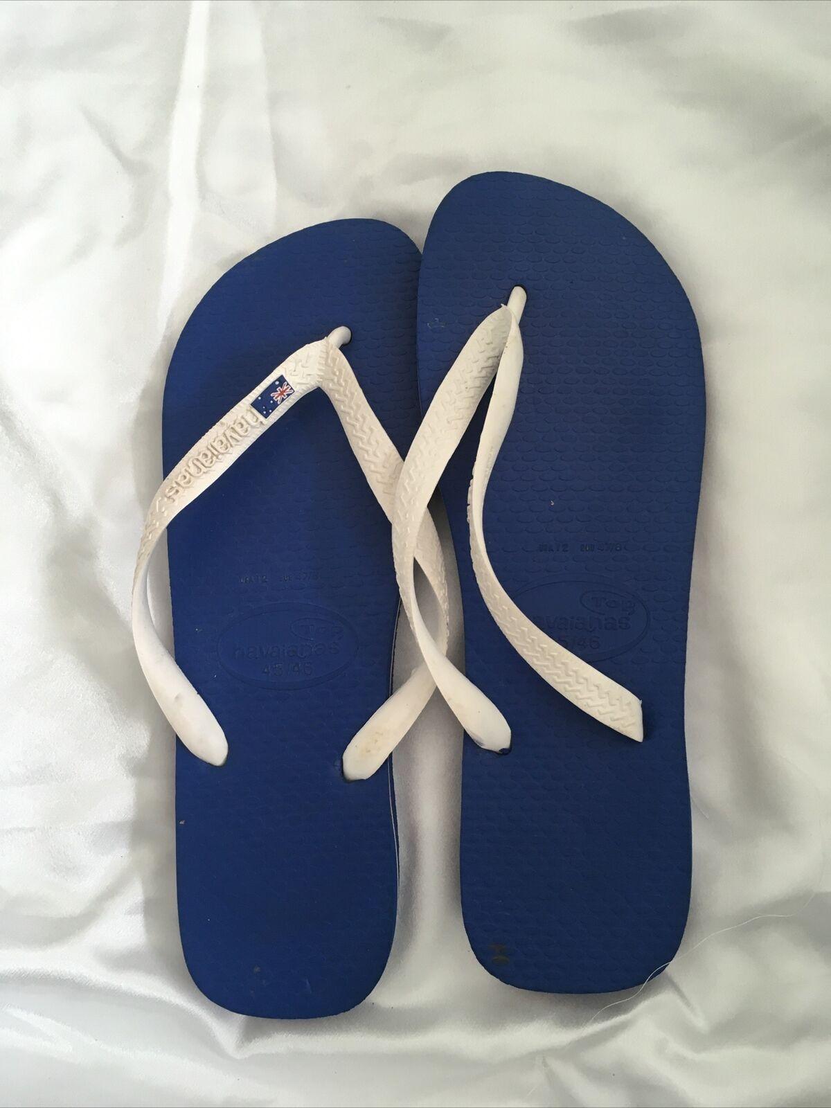 Havaianas Blue Mens Flip Flops Size 45/46