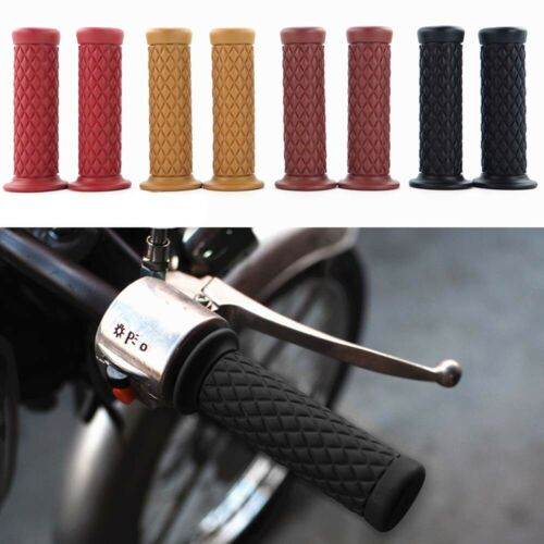 "2x Universal 7//8/"" 22mm Rubber Handlebar Hand Grip Bar End For Bike Cafe Racer"