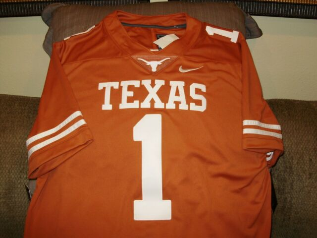 timeless design 2216c a5eab Texas Longhorns Nike Limited Sewn Stitched Burnt Orange Football Jersey  Mens LGE