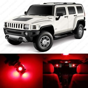 7 x Brilliant Red LED Interior Light Package For 2005 ...