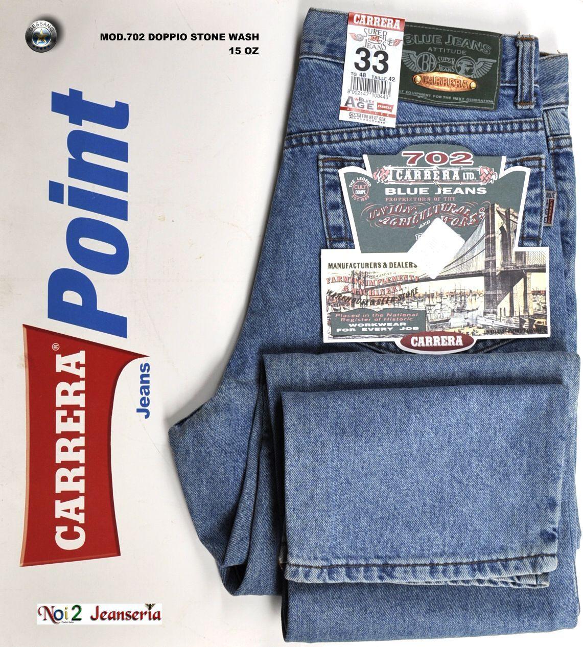 CARRERA jeans MODELLO 702 5 5 5 TASCHE DOPPIO STONE WASH  MISURA 60 750873