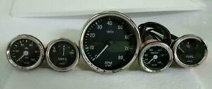 Smiths-Replica-52mm-Kit-Temp-Oil-Fuel-Amp-Gauge-Tachometer-100mm