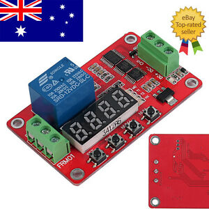 12V-DC-CH1-Self-lock-Relay-PLC-Cycle-Timer-Module-Delay-Time-Switch-AU-Stock